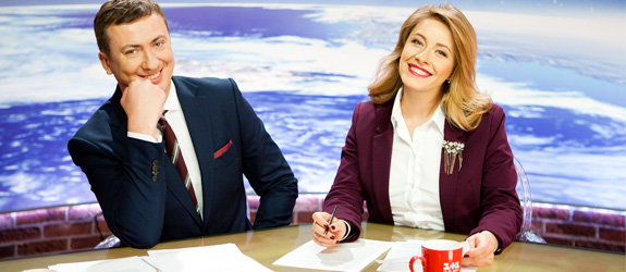 Elena Kravets and Valery Zhidkov become the new co-hosts of Baking News.
