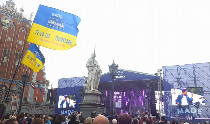 The opening of the Ukrainian festival of music and humour MADE in UKRAINA in Riga was attended by thousands of spectators